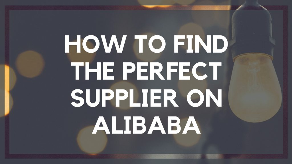 Finding Suppliers on Alibaba