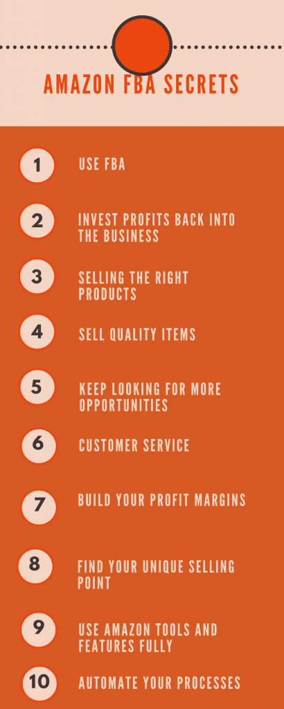 Top 10 Secrets of Amazon Top FBA Sellers