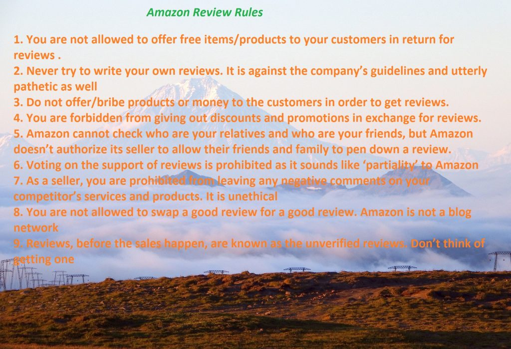 amazon review rules