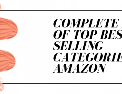 Complete List of Top Best Selling Categories on Amazon